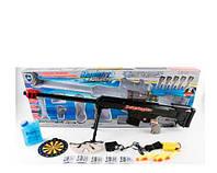 Автомат 661-3 на аккумуляторе 78 см, водяные пули(гелевые)+свет,+мягкие пули-присоски