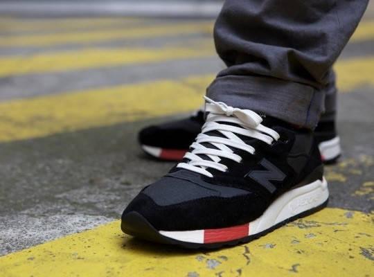 Кроссовки мужские в стиле New Balance 998 Black/Red, фото 2