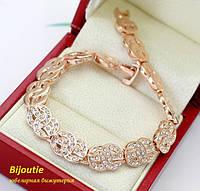 Браслет ГИПНОЗ ювелирная бижутерия золото 18к декор кристаллы Swarovski