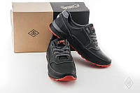 Мужские кожаные кроссовки на красной подошве