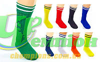 Гетры футбольные юниорские CO-5608 (х-б, нейлон, р-р 32-39, цвета в ассортименте)