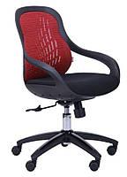 Кресло Колибри чёрный/сетка красная (X-10A)