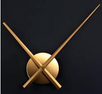 Часовой механизм золотой с золотыми стрелками 30см