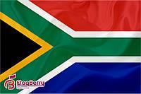 Флаг ЮАР 100*150 см.,флажная сетка.,2-х сторонняя печать