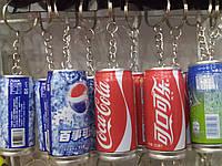 Брелок баночка-ручка, пепси, кола, спрайт