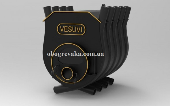 Печь калориферная «VESUVI» с варочной поверхностью «О2» со стеклом
