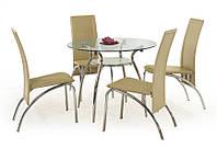 Стеклянный круглый стол Halmar Adam