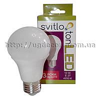LED лампа Svitloton Standart A60 10W E27 4200K