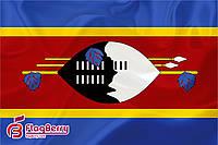 Флаг Свазиленда 80*120 см., искуственный шелк