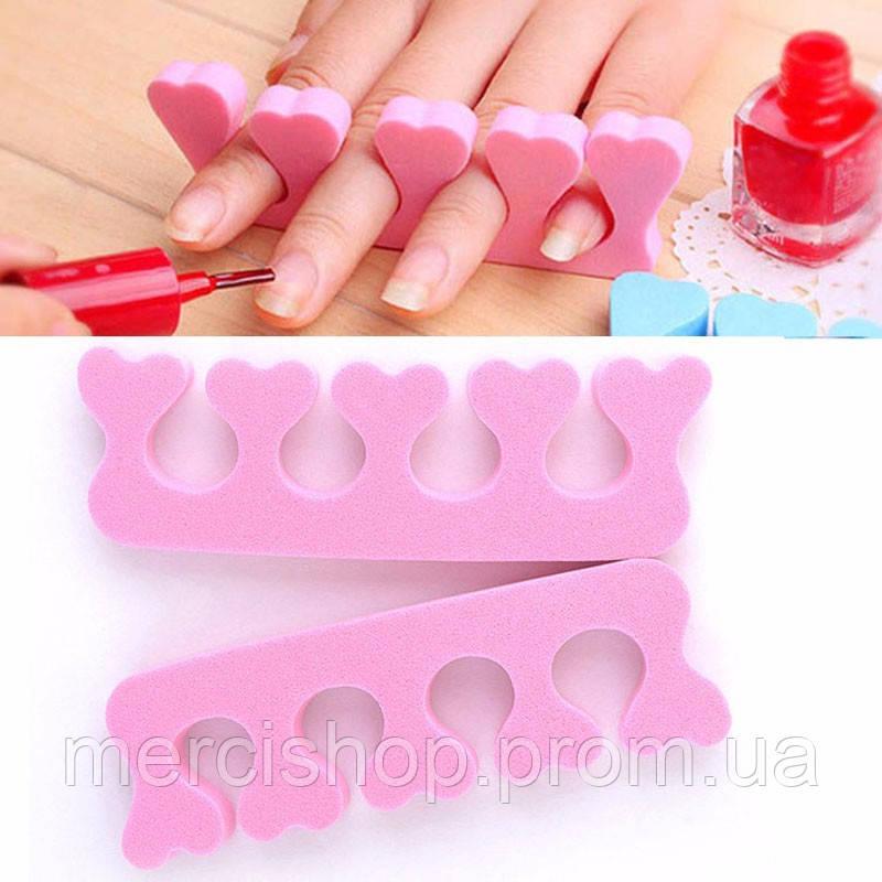 Сепаратор (разделитель) пальцев для педикюра/маникюра (2 шт.)