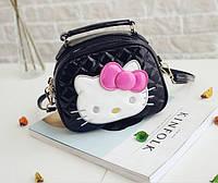 Лаковая сумочка с бантиком для девочек Hello Kitty