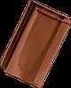 Керамическая черепица Tondach Болеро рядовая коричневая ангоб