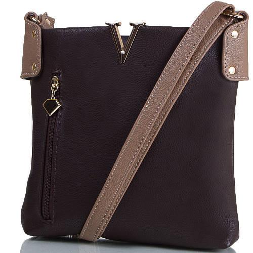 Стильная женская мини-сумка из искусственной кожи ETERNO (ЭТЕРНО) ETMS35302-10 коричневый