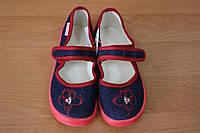 Тапочки в садик на девочку, текстильная обувь Vitaliya, ТМ Виталия Украина, р-р 28-31,5