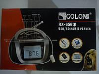 Радио ручное с USB/SD пульт ДУ микрофон (GOLON RX-656 QI)