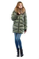 Пуховик длинный зимний женский
