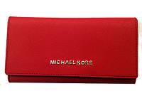 Кошелек женский Michael Kors MK-3001 бордовый кожвинил с монетницей внутри
