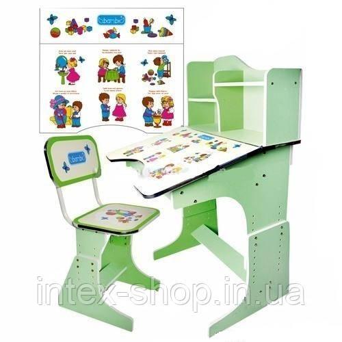 Детская парта со стульчиком трансформер Bambi HB 2071-03 (стол-парта-растишка, 5 положений) КИЕВ