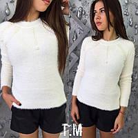 Женский шикарный мягкий стильный свитер ангора травка (3 цвета), фото 1