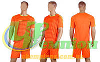 Форма футбольная без номера CO-1601-P (PL, р-р M-L, коралловый, шорты коралловые)