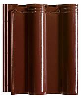 Керамическая черепица Creaton Maxima 507 винно-красная глазурь рядовая