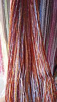Веревочные шторы с люрексом и цветами на любой вкус