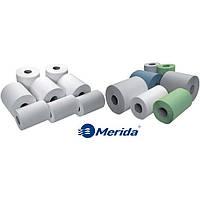 Рулонные бумажные полотенца на гильзе Материал протирочный бумажный Merida Паперові рушники рулонні