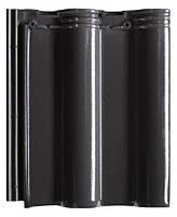 Керамическая черепица Creaton Maxima 503 черная глазурь рядовая