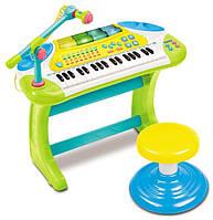 Игрушка Weina «Электронное пианино», детское пианино со стульчиком