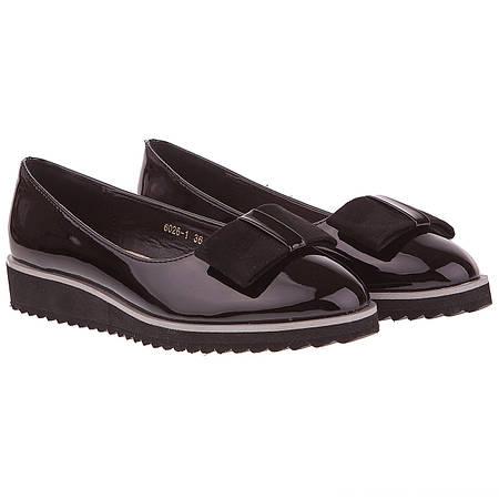 Красивые туфли женские Vices (лаковые, с элегантным бантом, стильные,  удобные, легкие, модные) a0446ca1d79