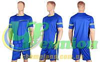 Форма футбольная без номера CO-1603-B (PL, р-р M-XL, синий, шорты синие)