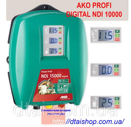 Генератор электропастуха AKO Profi NDI 10000 (подключение  сеть 220 В)