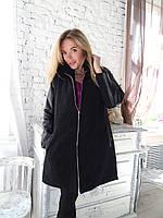 Пальто кашемировое с норковым воротником 44 46 размер, фото 1
