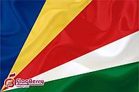 Флаг Сейшельские Острова 80*120 см., искуственный шелк