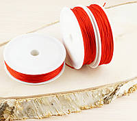 Шнур синтетика красный(1мм) катушка