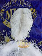 Свадебная ручка с пером страуса