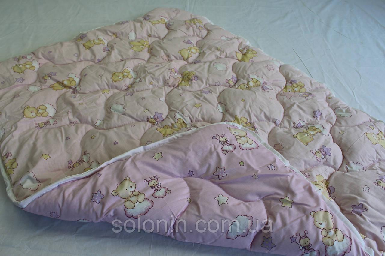 Одеяло в кроватку бязь/шерсть.