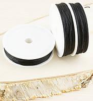 Шнур синтетика чёрный(1мм) катушка