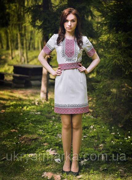 """Жіноча вишита сукня """"Червоне і чорне"""""""