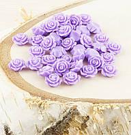 Полубусина (5 штук)Розочка фиолетовая 10 мм