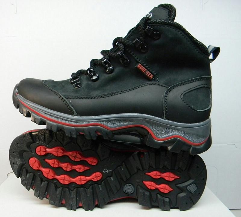 Ботинки подростковые Ecco зимние кожаные черные и бежевые на меху E0009 b3ef93b51281f