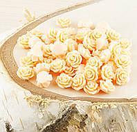 Полубусина (5 штук)Розочка персиковая 10 мм(товар при заказе от 500грн)