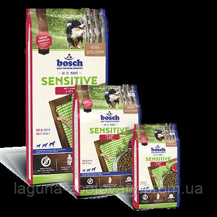 Корм для собак Бош СЕНСИТИВ Ягненок-Рис 15кг/ новая упаковка, фото 2