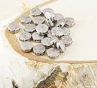 Бусина (5 штук)Плоская под серебро 10 мм(товар при заказе от 500грн)