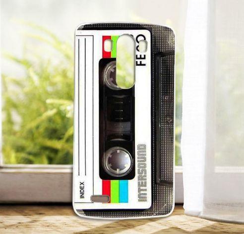 Силиконовый чехол накладка для LG G3 Optimus D855 D857 с рисунком Кассета