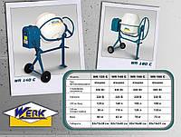 Бетономешалка WR 140C, бак 140 л, готовая смесь 110 л, 650 Вт, вес 67кг, габариты кор-ки