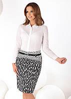 Женская юбка классического кроя с рисунком. Модель Klara Top-Bis.
