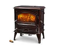 Чугунная мульти печь Dovre 640 GM/E6 коричневая майолика