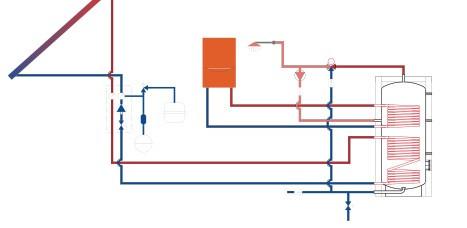 Схема подключения аккумулирующего бака