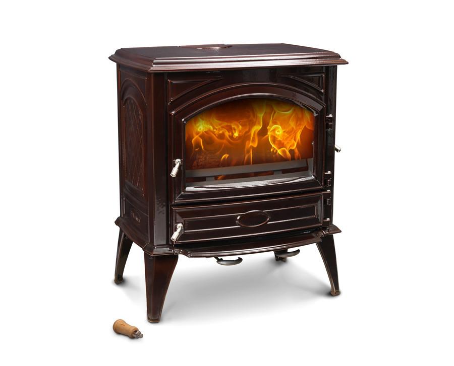 Печь камин чугунная DOVRE 640 CB коричневая майолика